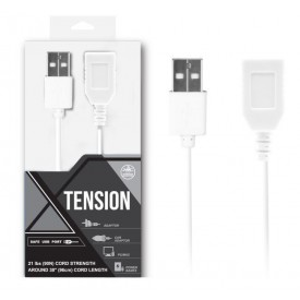 Белый удлинитель USB-провода - 100 см.